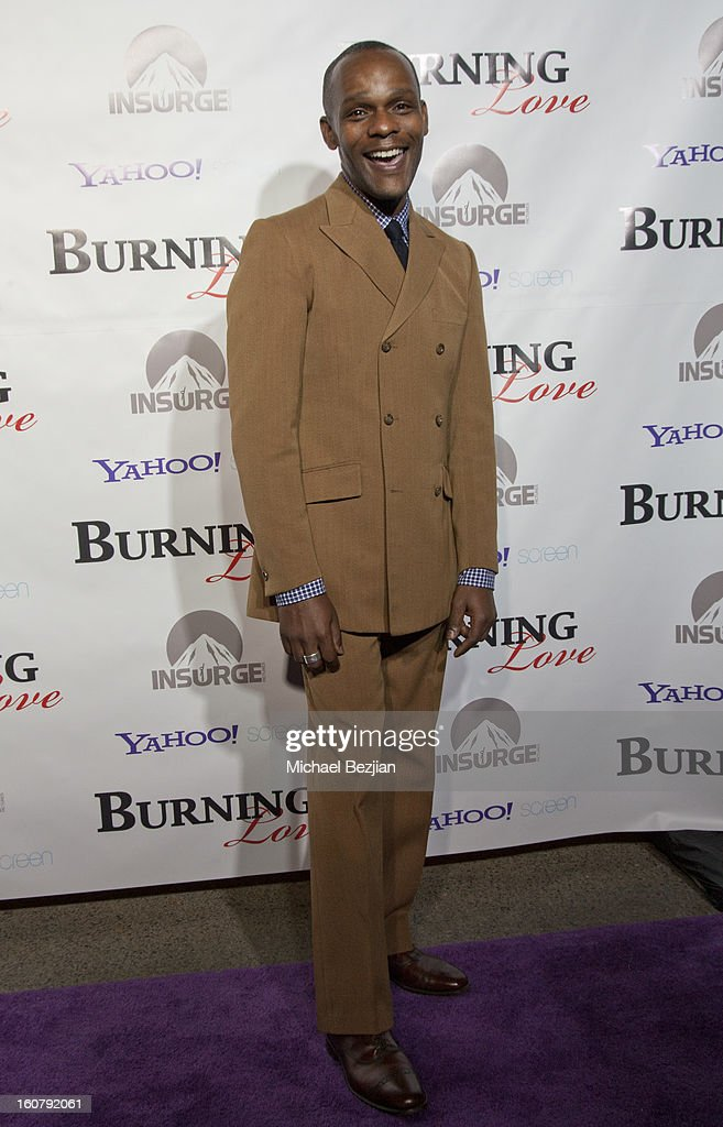 Brandon Johnson attend the 'Burning Love' season 2 premiere at Paramount Theater on the Paramount Studios lot on February 5, 2013 in Hollywood, California.