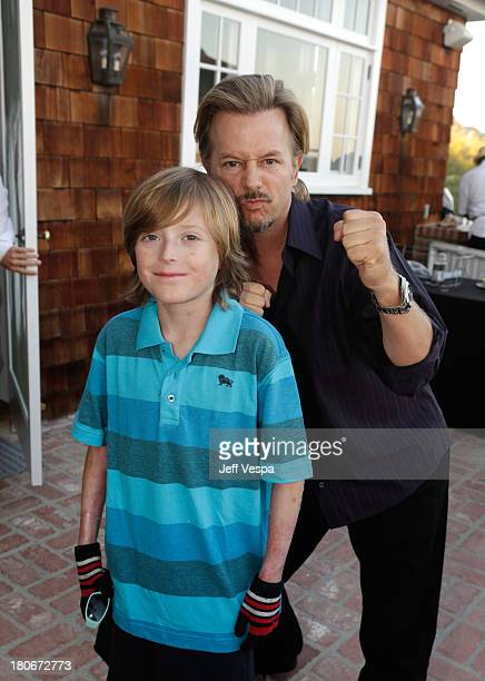 Brandon Joseph and David Spade attend Eddie Vedder and Zach Galifianakis Rock Malibu Fundraiser for EBMRF and Heal EB on September 15 2013 in Malibu...