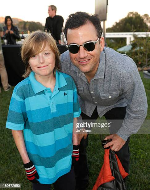 Brandon Joseph and Jimmy Kimmel attend Eddie Vedder and Zach Galifianakis Rock Malibu Fundraiser for EBMRF and Heal EB on September 15 2013 in Malibu...