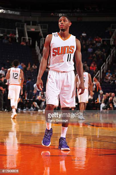 Brandon Knight of the Phoenix Suns looks on against the Utah Jazz on October 5 2016 at Talking Stick Resort Arena in Phoenix Arizona NOTE TO USER...