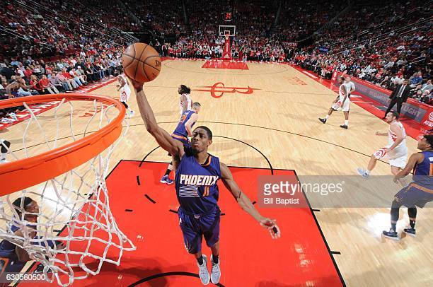 Brandon Knight of the Phoenix Suns shoots the ball against the Houston Rockets during the game on December 26 2016 at the Toyota Center in Houston...
