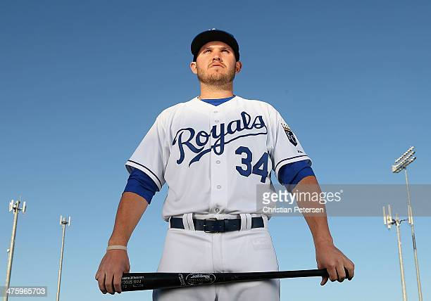 Brandon Laird of the Kansas City Royals poses for a portrait during spring training photo day at Surprise Stadium on February 24 2014 in Surprise...