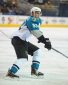 Brandon Mashinter of the Worcester Sharks skates against the Charlotte Checkers at the DCU Center on November 27 2010 in Worcester Massachusetts