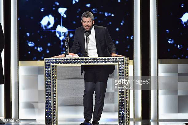 Brandon Maxwell accepts the Swarovski Womenswear award onstage at the 2016 CFDA Fashion Awards at the Hammerstein Ballroom on June 6 2016 in New York...