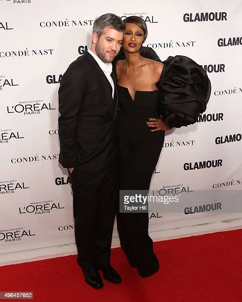 Brandon Maxwell and Iman attend Glamour's 25th Anniversary Women Of The Year Awards at Carnegie Hall on November 9 2015 in New York City
