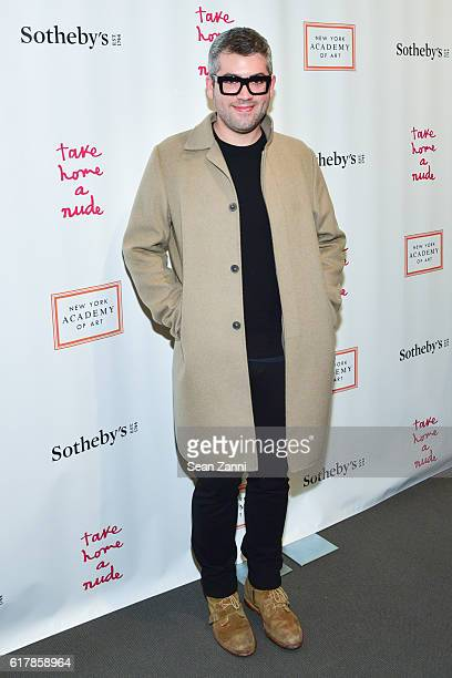 Brandon Maxwell attends 2016 Take Home a Nude Benefiting New York Academy of Art at Sotheby's on October 24 2016 in New York City
