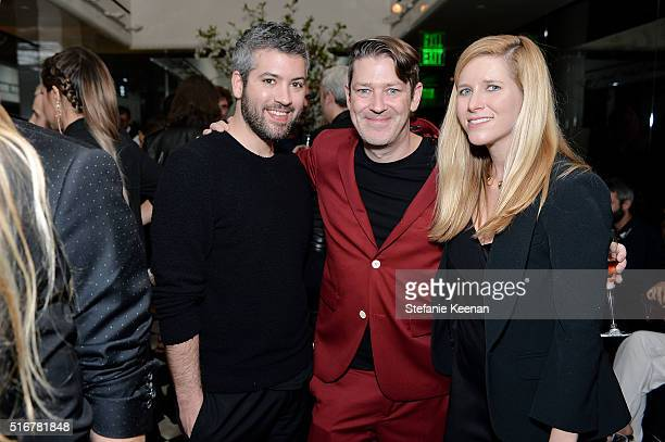 Brandon Maxwell Eddie Roche and Paige Reddinger attend The Daily Front Row Fashion Los Angeles Awards Private Dinner Hosted By Eva Chow And Carine...