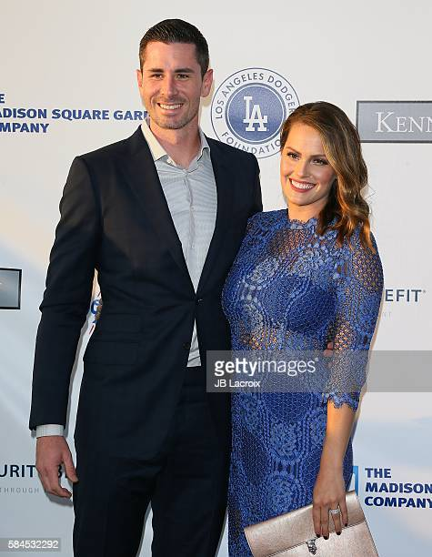 Brandon McCarthy attends the Los Angeles Dodgers Foundation Blue Diamond Gala on July 28 2016 in Los Angeles California