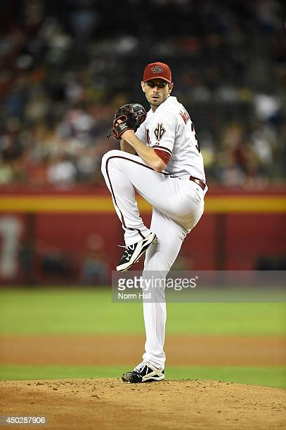 Brandon McCarthy of the Arizona Diamondbacks pitches against the Atlanta Braves at Chase Field on June 6 2014 in Phoenix Arizona