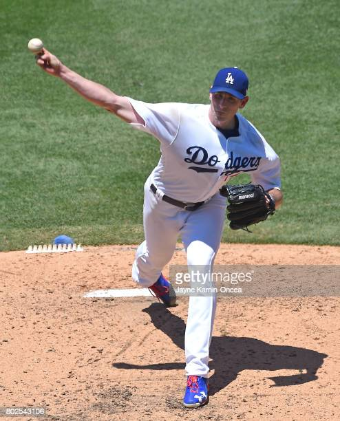 Brandon McCarthy of the Los Angeles Dodgers in the game against the Colorado Rockies at Dodger Stadium on June 25 2017 in Los Angeles California