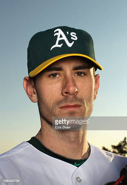 Brandon McCarthy of the Oakland Athletics poses for a portrait during media photo day at Phoenix Municipal Stadium on February 24 2011 in Phoenix...