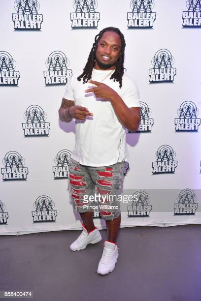 Brandon Meriweather attens Baller alert's Bowl Wit a Baller at Basement Bowl on October 5 2017 in Miami Florida