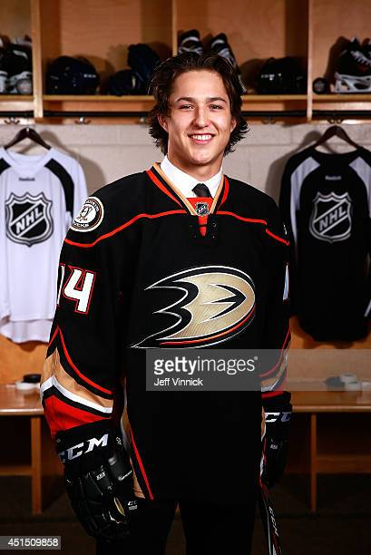 Brandon Montour 55th overall pick of the Anaheim Ducks poses for a portrait during the 2014 NHL Entry Draft at Wells Fargo Center on June 28 2014 in...