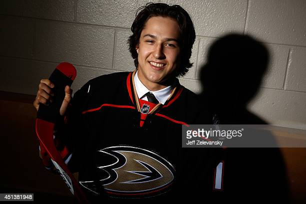 Brandon Montour of the Anaheim Ducks poses for a portrait during the 2014 NHL Draft at the Wells Fargo Center on June 28 2014 in Philadelphia...