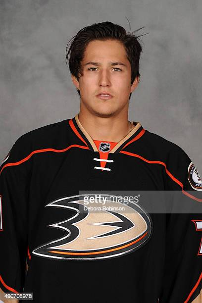 Brandon Montour of the Anaheim Ducks poses for his official headshot for the 20152016 season on September 10 2015 at Honda Center in Anaheim...