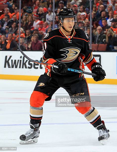 Brandon Montour of the Anaheim Ducks skates during the game against the Detroit Red Wings on January 4 2017 at Honda Center in Anaheim California