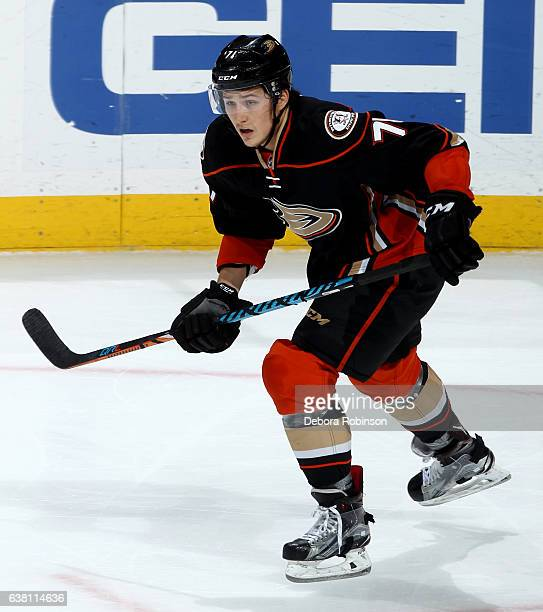 Brandon Montour of the Anaheim Ducks skates during the game against the Arizona Coyotes on January 6 2017 at Honda Center in Anaheim California