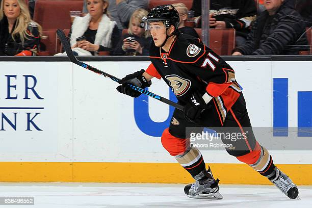 Brandon Montour of the Anaheim Ducks skates during the game against the Minnesota Wild on January 8 2017 at Honda Center in Anaheim California