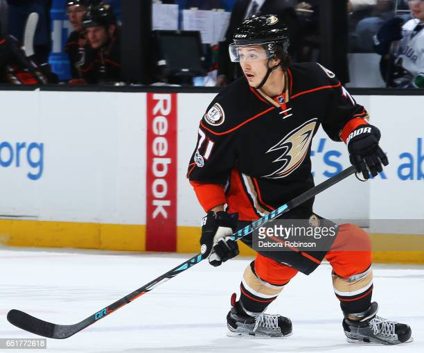 Brandon Montour of the Anaheim Ducks skates during the game against the Vancouver Canucks on March 5 2017 at Honda Center in Anaheim California