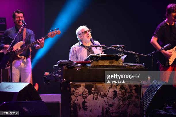 Brandon Morrison Donald Fagen and Will Bryant of Donald Fagen and The Nightflyers perform on stage at The Fillmore Miami Beach on August 8 2017 in...