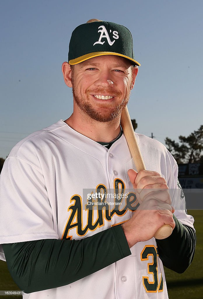 <a gi-track='captionPersonalityLinkClicked' href=/galleries/search?phrase=Brandon+Moss&family=editorial&specificpeople=702783 ng-click='$event.stopPropagation()'>Brandon Moss</a> #37 of the Oakland Athletics poses for a portrait during the spring training photo day at Phoenix Municipal Stadium on February 18, 2013 in Phoenix, Arizona.