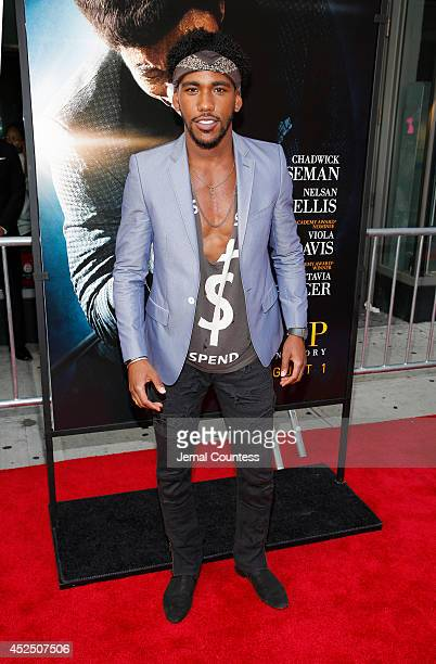 Brandon Mychal Smith attends the 'Get On Up' premiere at The Apollo Theater on July 21 2014 in New York City