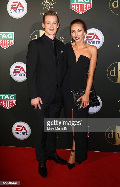 Brandon O'Neill and Nicole Blank arrive ahead of the FFA Dolan Warren Awards at The Star on May 1 2017 in Sydney Australia