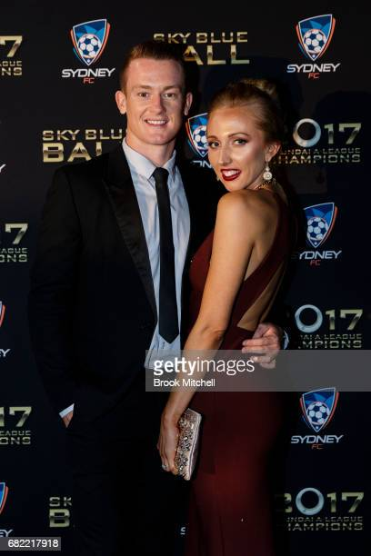 Brandon O'Neill and Nicole Blank arrive at the 2017 Sky Blue Ball at Sydney Cricket Ground on May 12 2017 in Sydney Australia