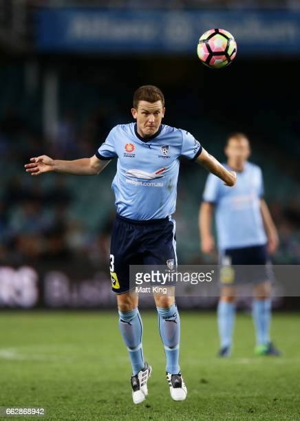 Brandon O'Neill of Sydney FC controls the ball during the round 25 ALeague match between Sydney FC and Melbourne City FC at Allianz Stadium on April...
