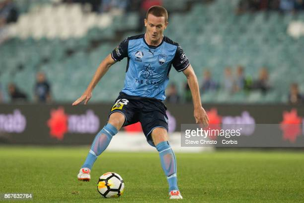 Brandon O'Neill of Sydney FC controls the ball during the round four ALeague match between Sydney FC and the Perth Glory at Allianz Stadium on...