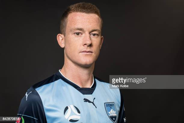 Brandon O'Neill poses during the Sydney FC ALeague headshots session at Macquarie University on September 5 2017 in Sydney Australia