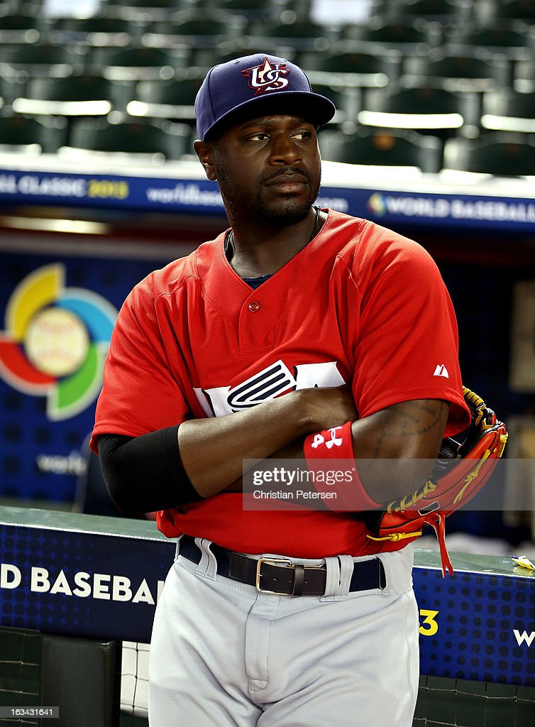 Brandon Phillips #4 of USA looks on priot to the World Baseball Classic First Round Group D game against Italy at Chase Field on March 9, 2013 in Phoenix, Arizona.