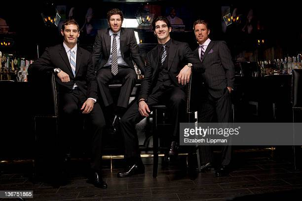 Brandon Prust Dan Girardi Brian Boyle and Brad Richards from the NY Rangers are photographed for New York Post on December 12 2011 in New York City