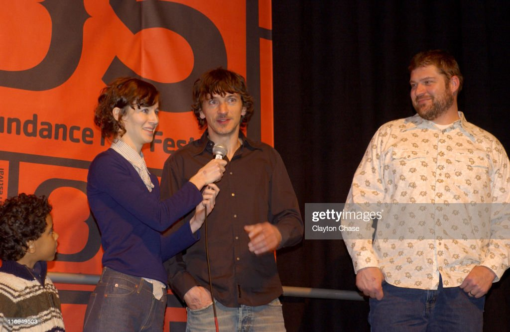 Brandon Ratcliff Miranda July director of 'Me and You and Everyone We Know' John Hawkes and Brad Henke