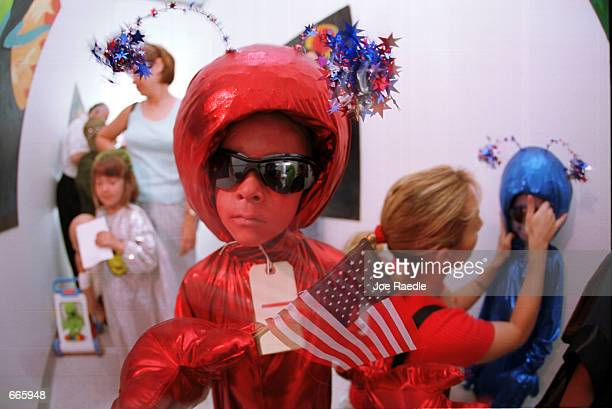 Brandon Reisersix dressed as a little alien competes in the alien costume contest in Roswell New Mexico July 1 2000 He was participating in the...