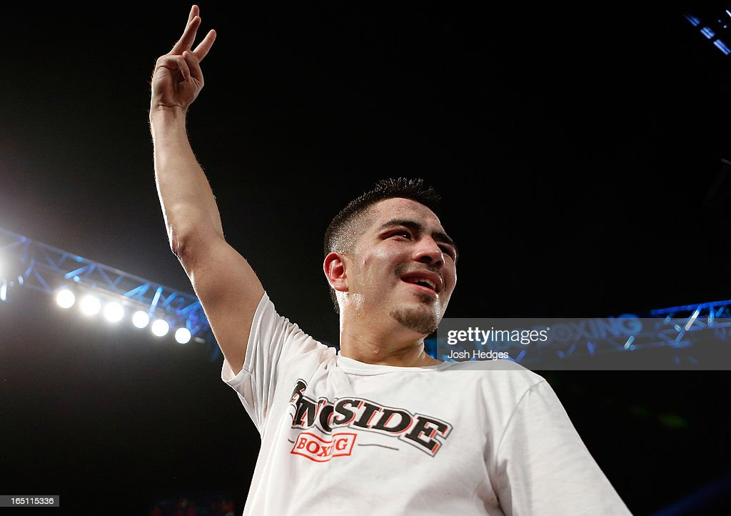 Brandon Rios calls for a third fight against Mike Alvarado after losing a close decision to Alvarado in their WBO interim junior welterweight championship bout at the Mandalay Bay Events Center on March 30, 2013 in Las Vegas, Nevada.