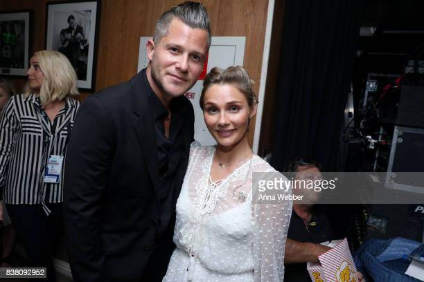 Brandon Robert Young and Clare Bowen attend the 11th Annual ACM Honors at the Ryman Auditorium on August 23 2017 in Nashville Tennessee