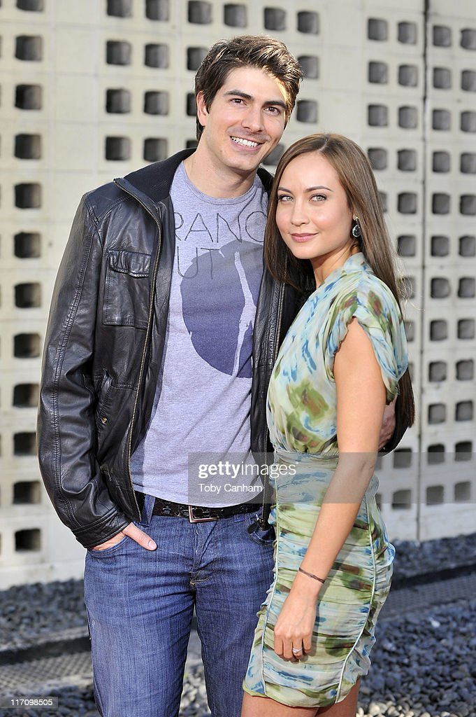 Brandon Routh and Courtney Ford arrive for the premiere of HBO's 'True Blood' held at the Arclight Cinerama Dome on June 21, 2011 in Los Angeles, California.