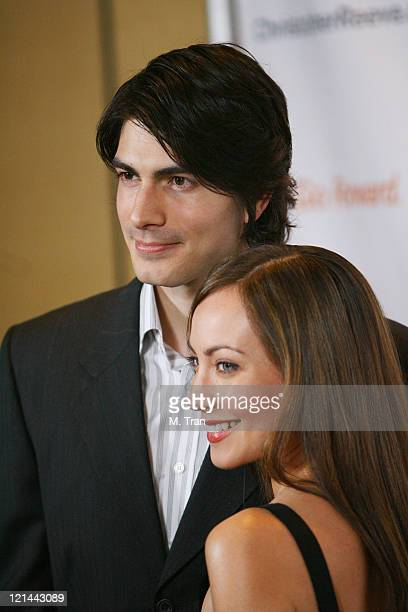 Brandon Routh and Courtney Ford during 3rd Annual Los Angeles Gala for the Christopher and Dana Reeve Foundation at Century Plaza Hotel in Century...