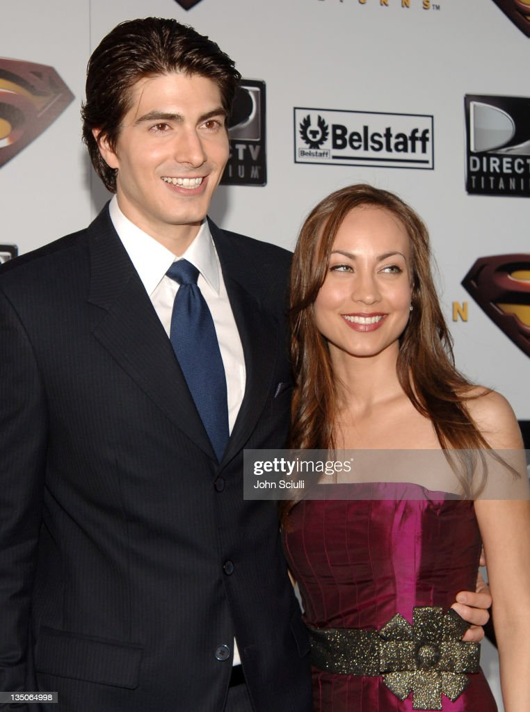 Brandon Routh and Courtney Ford during 'Superman Returns' World Premiere Sponsored By Belstaff at Mann Village and Bruin Theaters in Westwood...