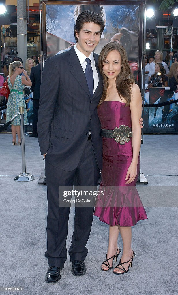 Brandon Routh and Courtney Ford during World Premiere of 'Superman Returns' Arrivals at Mann's Village and Bruin Theaters in Westwood California...