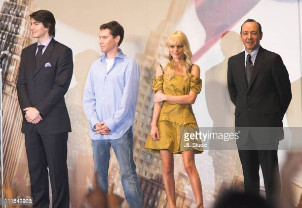 Brandon Routh Bryan Singer director Kate Bosworth and Kevin Spacey