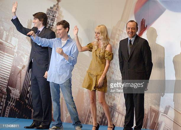 Brandon Routh Bryan Singer Kate Bosworth and Kevin Spacey