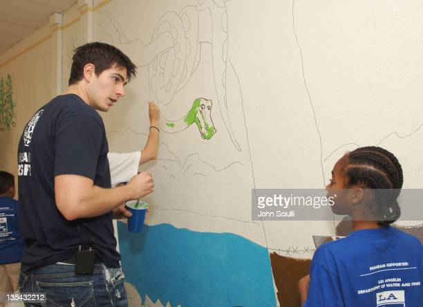 Brandon Routh during TMobile HuddleUp Union Avenue School at Union Avenue School in Los Angeles California United States