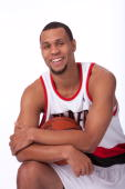 Brandon Roy of the Portland Trail Blazers poses for a portrait during 2009 NBA Media Day on September 28 2009 at the Rose Garden Arena in Portland...