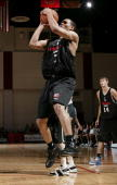 Brandon Roy of the Portland Trail Blazers shoots against the Minnesota Timberwolves during the 2006 Toshiba Vegas Summer League July 9 2006 at the...