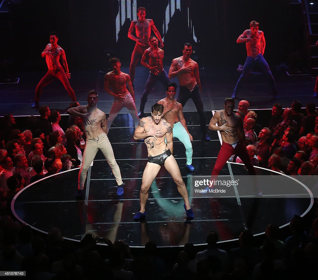 Brandon Rubendall and cast perform in Broadway Cares/Equity Fights AIDS' 'Broadway Bares, Rock Hard!' at Hammerstein Ballroom June 22, 2014 in New York City.