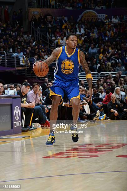 Brandon Rush of the Golden State Warriors drives against the Los Angeles Lakers on December 23 2014 at Staples Center in Los Angeles California NOTE...