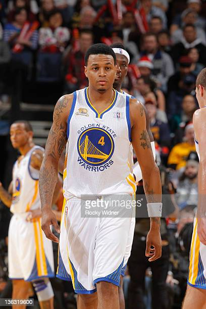 Brandon Rush of the Golden State Warriors during the season opener against the Los Angeles Clippers on December 25 2011 at Oracle Arena in Oakland...
