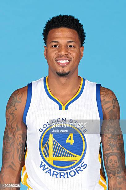 Brandon Rush of the Golden State Warriors poses for a head shot during media day on September 28 2015 at the Warriors practice facility in Oakland...